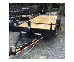 2017 Big Tex Tandem Axle Equipment Trailer w/ Mega Ramps 7'x20'
