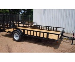 2015 Big Tex 6'6 x 14 Single Axle Utility Trailer