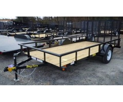 2017 Big Tex Single Axle Utility Trailer 6'6x14'