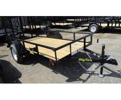 2017 Big Tex Single Axle Utility Trailer 5'x10'