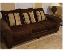very comfortable three seat sofa