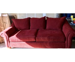 Matching Sofa and chair set with Ottoman