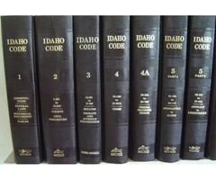 IDAHO CODE, Michie, 2000. 27 Vol - Titles, Indexes, Court Rules