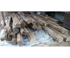 used building materials, RARE AMERICAN CHESTNUT, 34 Beams, 8ft. To 16ft. long