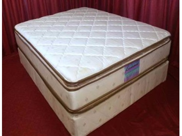 Brand new double pillow top mattress set w 25 y warranty for Dual pillow top mattress