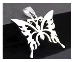 Butterfly Womens Men's Silver 316L