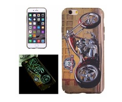 For iPhone 6/6s Motorcycle Pattern PC Protective Case with Noctilucent