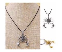 HOT Fashion Vintage Titanium Steel Silver Gold Scorpion Chain Pendant Necklace