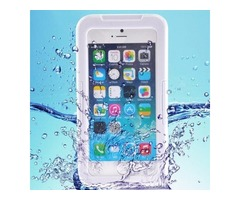 For iPhone 6/6s White IP68 Waterproof Protective Case with Lanyard