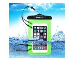 For iPhone 6/6s Green HAWEEL Universal Waterproof Bag with Lanyard