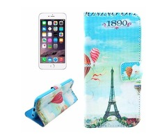 For iPhone 6/6s Balloon Leather Case with Holder, Money pocket & Card Slots