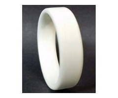 Professionally handcrafted White Unidirectional Ring