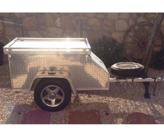 Diamond Plated Cargo Trailer