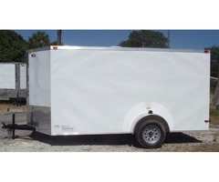 ATV Trailer for sale! NEW Bar Lock Side Door White Ext 6x12 w/ Single Axle