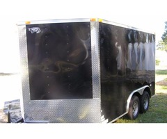 "Enclosed Trailer 8.5 x 12 ft with 36 "" RV Side Door and Ramp Door"