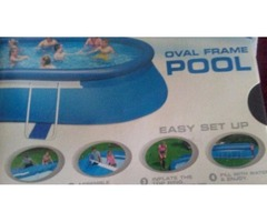 Swimming pool. Never used. Still in bixes