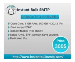 Buy Bulk SMTP Server is Most Relaiabale and Powerfull....