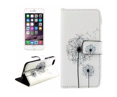 For iPhone 6/6s Cross Dandelions Leather Case with Holder, Wallet