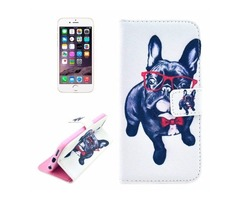 For iPhone 6/6s Dog Pattern Leather Case with Holder, Wallet & Card Slots