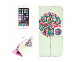For iPhone 6/6s Balloon Pattern Leather Case with Holder, Wallet