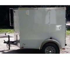 5x6 NO Side Door NEW ENCLOSED Trailer with Single 2,990lbs Axle