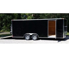 New 8.5' by20' Trike Trailer, Sharp looking Blk with Drings