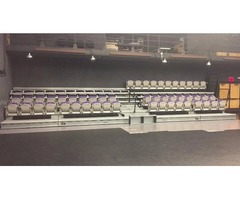 Hussey Maxam Electric Retractable Stadium Seating