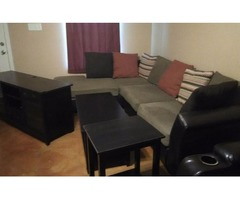 Sectional and leather recliner for sale