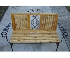 4.0' Cedar/Metal Bench