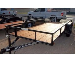 New 16' Double Axle Trailer Texas Bragg - Rio Grande Valley