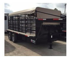 New Livestock Trailer w Tarp - Rio Grande Valley
