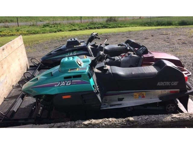 JD tractor, Connex box, & 3 snowmobiles - Other Vehicles Ads