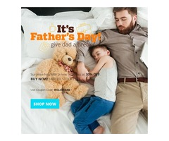 Bedding Stock Greets Every Dad Out There with a 30% Discount this Father's Day
