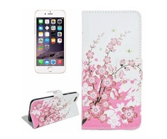 For iPhone 6/6s Blossom Magnetic Leather Case with Holder, Wallet & Card Slots