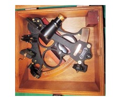 SEXTANT & CASE - Nautical - Original 1950's Hezzanith Heath