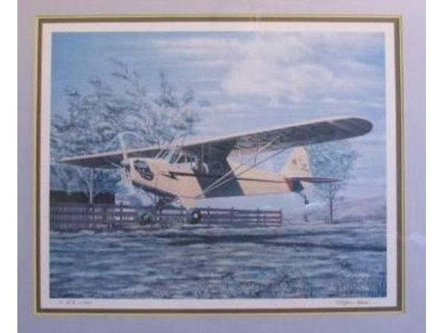 AVIATION Art -- Piper J-3 Cub by Robyn Clark - PERFECT | free-classifieds-usa.com