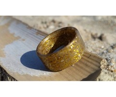 Galaxy Gold Matte Ring | Carbon Fiber Rings