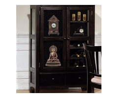 Coaster Curio Cabinet w wine rack