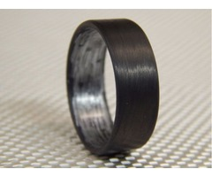 Unidirectional Carbon Fiber Ring with texalium inside in a matte finish