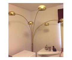 5 tier brass light w/ marble base