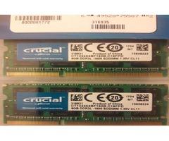 Crucial 16GB Kit (8GBx2) DDR3/DDR3L 1866 MT/s (PC3-14900)