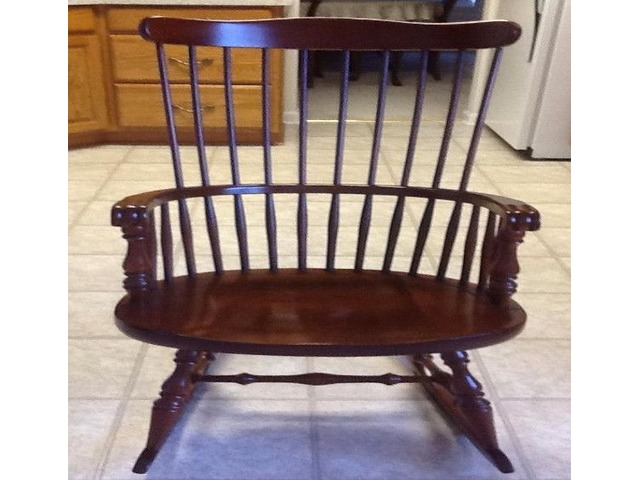Strange Vintage Virginia House Cherry Windsor Back Rocking Chair Gmtry Best Dining Table And Chair Ideas Images Gmtryco
