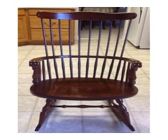 Vintage Virginia House Cherry Windsor Back Rocking Chair-MINT
