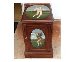 Golf Motif Magazine/Storage Chairside Table