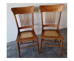 ntique Oak chairs/Lamps