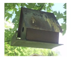 Solid Copper Bird House