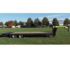 trailers gooseneck 25 foot john deer gatormade bobcat skid steer