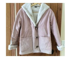Super Warm Beautiful Pink Leather Jacket