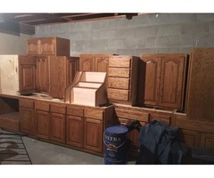 13 New Solid Oak Cabinets