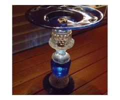 garden glassware birdbath
